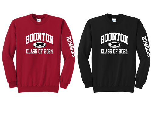 Core Fleece Crewneck Sweatshirt - Boonton Class of 2024