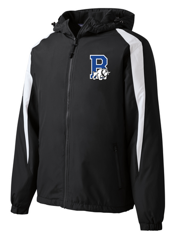 Fleece-Lined Colorblock Jacket (Adult/Youth Sizes) - Bulldogs Wrestling