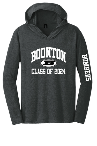 Perfect Tri Long Sleeve Hoodie - Boonton Class of 2024