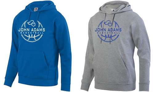 Hooded Sweatshirt - Adult - John Adams MS Basketball