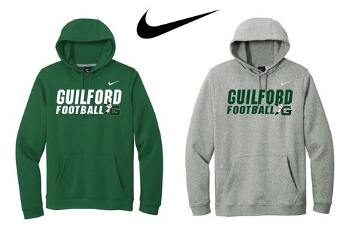 Nike Club Fleece Pullover Hoodie - Guilford Football