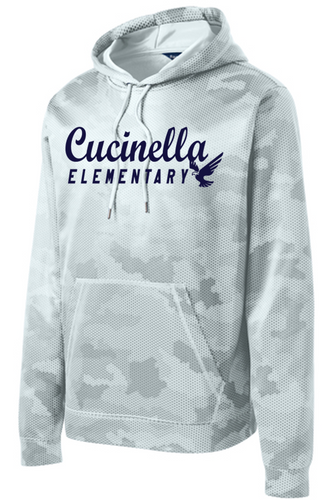 CamoHex Fleece Hoodie - YOUTH - Cucinella Elementary