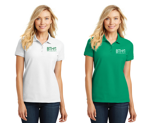 Core Classic Pique Polo - Ladies- Brick Staff