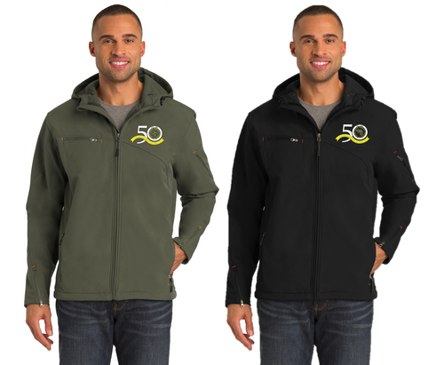 *Textured Hooded Soft Shell Jacket - East Jersey Trout Unlimited