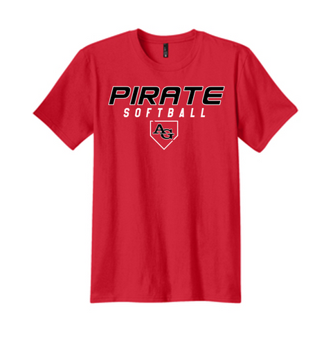 Ringspun Cotton Tee - Adult - Ash Grove Softball