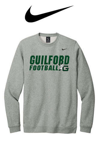 Nike Club Fleece Crew - Guilford Football
