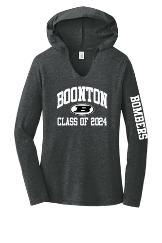 Women's Perfect Tri Long Sleeve Hoodie - Boonton Class of 2024