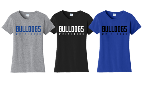 Ladies Fan Favorite Tee - Bulldogs Wrestling