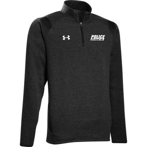 UA M's Hustle Fleece 1/4 Zip - JEFFERSON POLICE DEPT