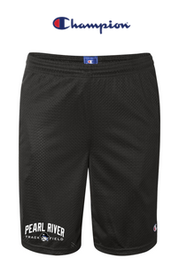 "Champion Mesh 9"" Shorts with Pockets - Adult - Pearl River Track & Field"