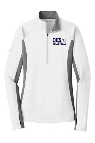 Stretch 1/2-Zip Pullover - Ladies - Delcastle Volleyball