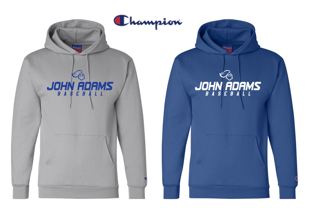 Champion Hooded Sweatshirt - Adult - John Adams MS Baseball