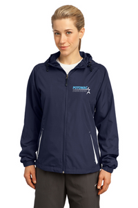 Ladies Hooded Raglan Jacket - Potomac Cheer