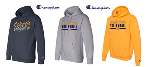 Champion Double Dry Eco Hooded Sweatshirt - JAMES WOOD VOLLEYBALL