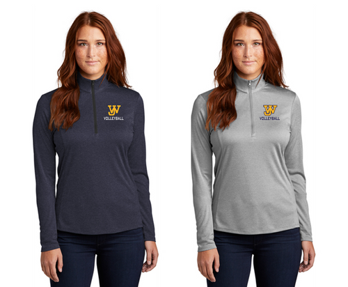 Ladies Ladies Endeavor Lightweight 1/4-Zip - JAMES WOOD VOLLEYBALL