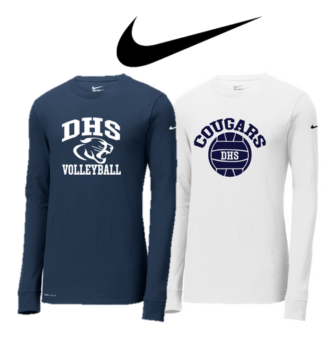 Nike Core Cotton Long Sleeve - ADULT - Delcastle Volleyball