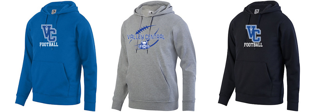 Hooded Sweatshirt - Adult - Valley Central Football