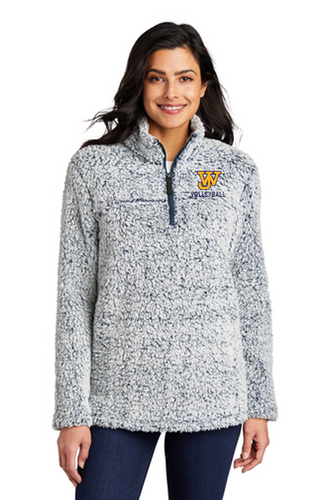 *Ladies Cozy 1/4-Zip Fleece - JAMES WOOD VOLLEYBALL