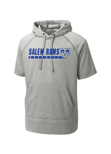 Tri-Blend Wicking Fleece Short Sleeve Hoodie - Adult - Salem Rams Baseball