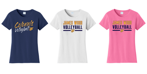 Ladies Fan Favorite Tee - JAMES WOOD VOLLEYBALL