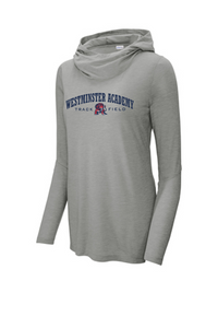 Tri-Blend Wicking Long Sleeve Hoodie - Ladies- Westminster Academy Track & Field