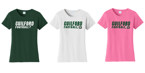 Ladies Fan Favorite Tee - Guilford Football