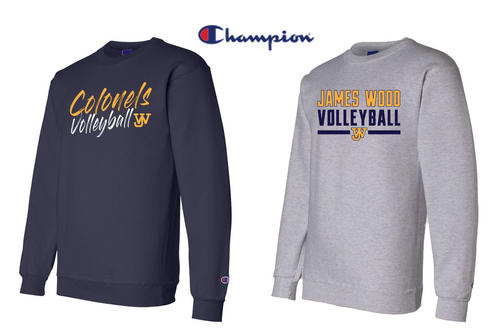 Champion Double Dry Eco Crewneck Sweatshirt - JAMES WOOD VOLLEYBALL