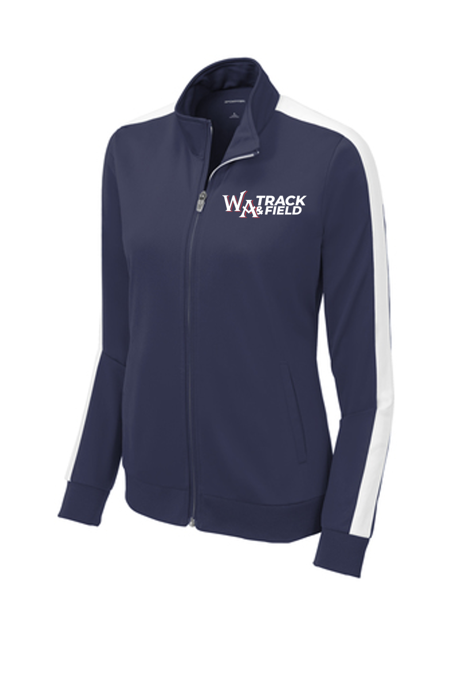 Ladies Tricot Track Jacket - Westminster Academy Track & Field