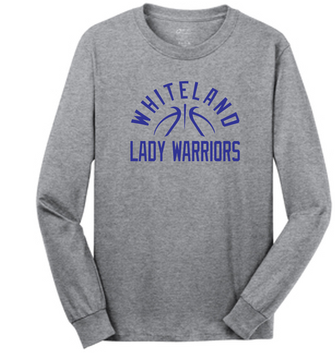 Team Long Sleeve Tee- Adult - WHITELAND GIRLS BASKETBALL