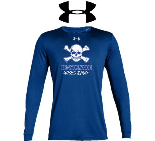 UA Men's Locker Long Sleeve 2.0 - Brazoswood Wrestling