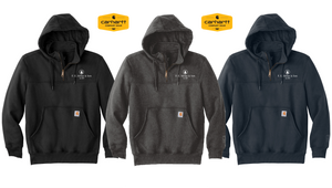 *Carhartt Rain Defender Paxton Heavyweight Hooded Zip Mock Sweatshirt - F.E. Miller and Son