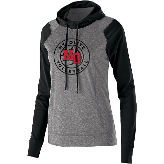 LADIES' LIGHTWEIGHT ECHO HOODIE - Mt. Olive Volleyball