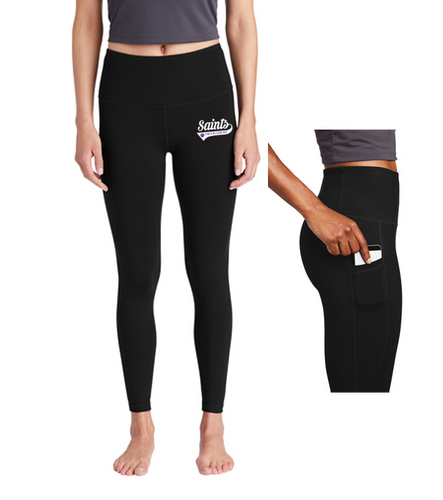 Ladies High Rise 7/8 Legging - Saints Cheerleading
