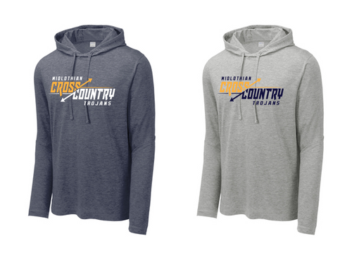 Tri-Blend Wicking Long Sleeve Hoodie - Midlothian XC