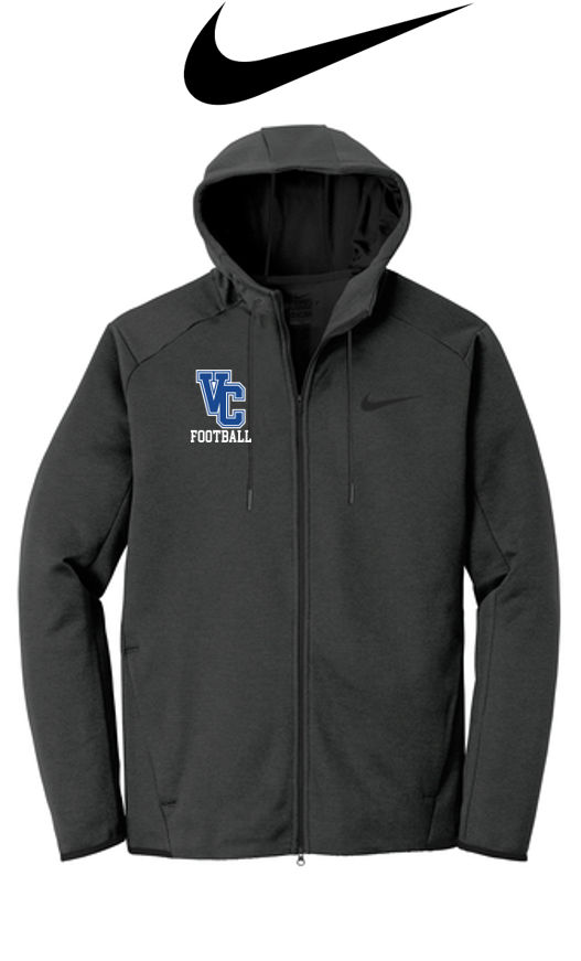 Nike Therma-FIT Full Zip Hoodie - Adult- Valley Central Football