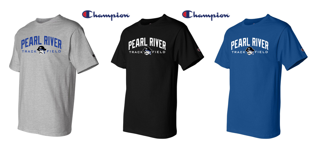 Champion Short Sleeve Tee - Adult - Pearl River Track & Field