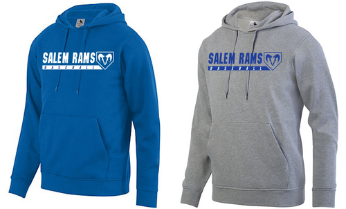 Hooded Sweatshirt - Adult - Salem Rams Baseball