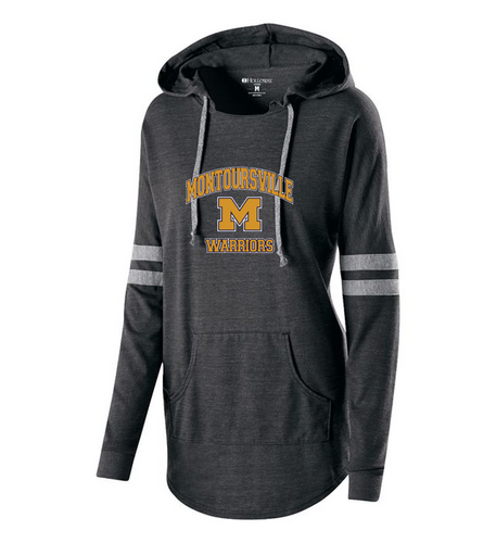 LADIES HOODED LOW KEY PULLOVER - Montoursville Warriors