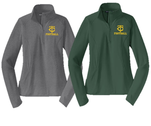 Stretch 1/2-Zip Pullover - Ladies - Trinity Football