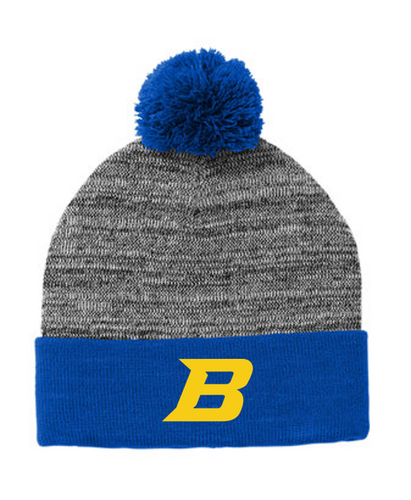 *Heather Pom Pom Beanie - Bluestem Football