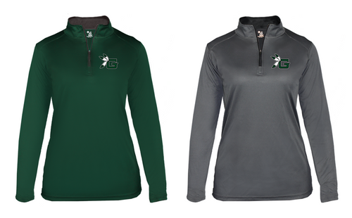 Ladies B-CORE Lightweight 1/4 Zip - Guilford Football