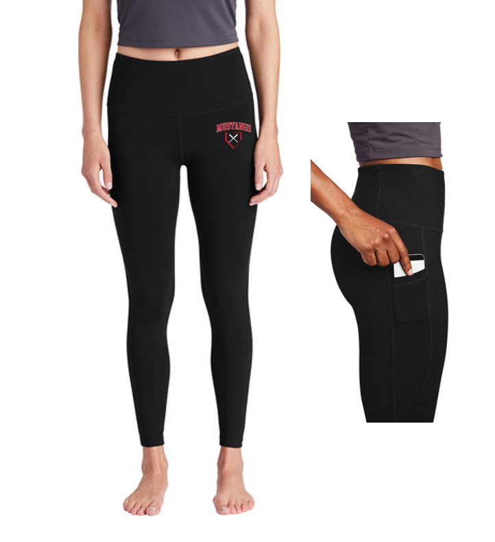 Ladies High Rise 7/8 Legging - George Mason Softball