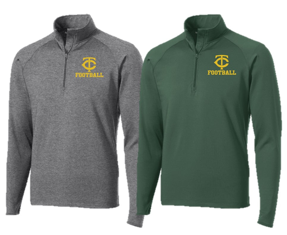 Stretch 1/2-Zip Pullover - ADULT - Trinity Football