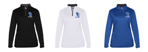 Ladies B-Core Lightwieght 1/4 Zip - Valley Central Football
