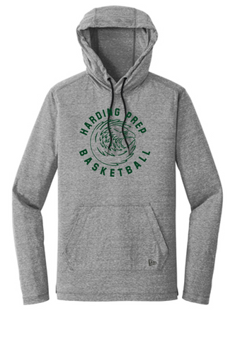 New Era Tri-Blend Hooded Longsleeve - Adult - Harding Prep Basketball