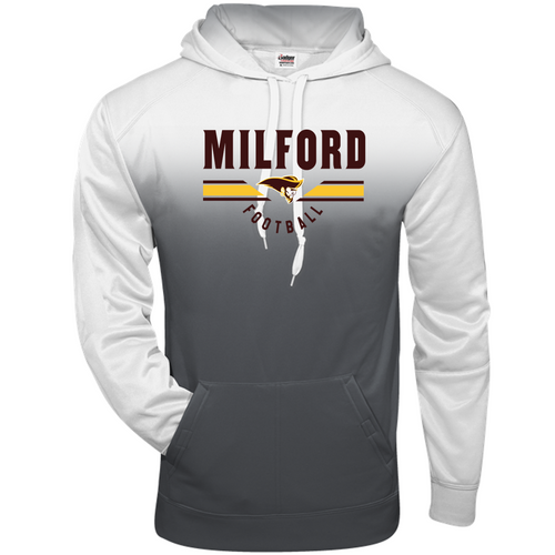 OMBRE HOODIE - Milford Football
