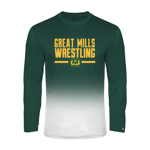 Ombre Performance Long Sleeve - Great Mills Wrestling