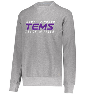 YOUTH Crewneck Sweatshirt - TEMS TRACK & FIELD