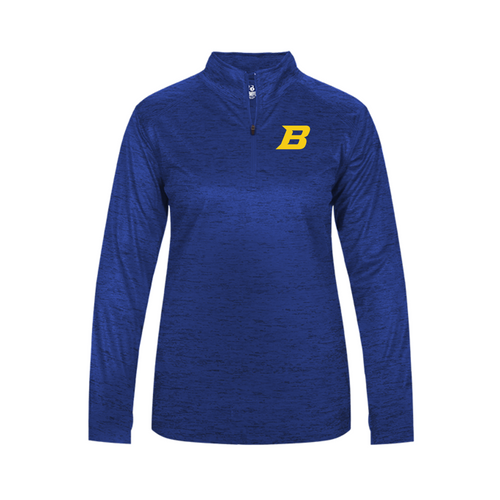 Ladies Lightweight Tonal Blend 1/4 Zip - Bluestem Football