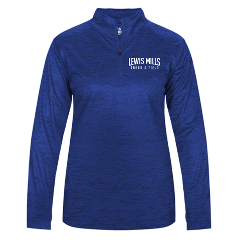 TONAL BLEND 1/4 ZIP (Lightweight) - LADIES - Lewis Mills Track